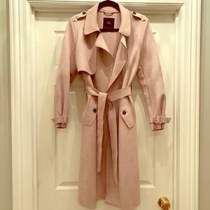 Zara Faux Suede Trench Coat 💓